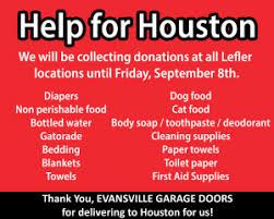 evansville garage doorsLefler Collision Collects Donations for Hurricane Harvey Relief