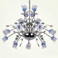 modern blown glass shades flowers chandelier 9736