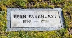 Fern Dunn Parkhurst (1899-1932) - Find A Grave Memorial