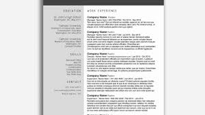 Modern Resume Template Free Word Examples Cv Template Docx Format