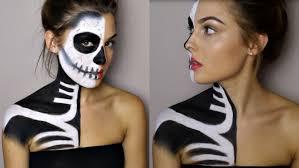 20 two faces halloweem makeup ideas