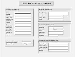 New Employee Form Template Sample Document Resumes