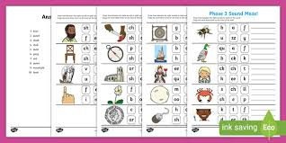 Some of the worksheets displayed are phonics websites, clld phonics at key stage 2, read write inc phonics set 1 set 2 set 3, phonics stories, overview of what to teach at phase six, phonics g, frances woodward. Phase 3 Phonics Sound Maze Worksheet Teacher Made