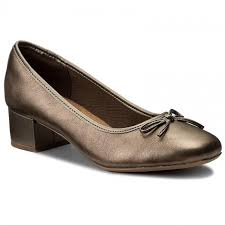 Shoes Clarks Chartli Daisy 261284754 Pewter Leather