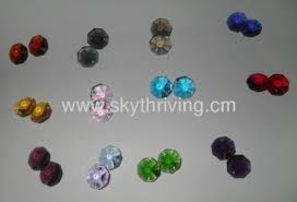 crystal octagonal beads crystal parts crystal chandelier accessories