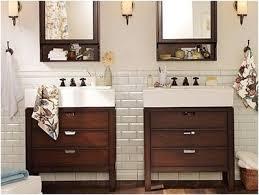 White Subway Tile Bathroom Wood Floor Amazing Tile