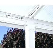 10 20 metal patio cover x pergola kit free standing fiberglass square column