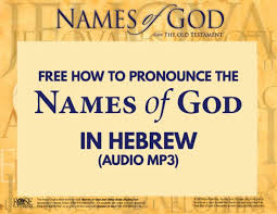 The Names Of God And Their Meanings Chart Best Of Free How