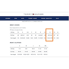 Tommy Hilfiger Shoes Size Chart Europe Tommy Hilfiger Usa Size Chart Q House Pl