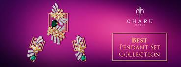 exotic designer diamond pendant sets