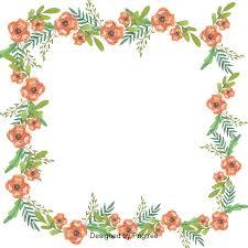 Border Design Floral Border Design Vector Frame Flower Frame Flower