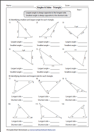 exterior angles worksheets geometry. relation between angles and sides exterior worksheets geometry