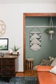 diy l stick wallpaper closet