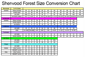 Hoggs Of Fife Size Chart Sherwood Forest Clothing Size Guide Country Clothing