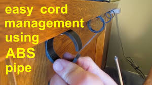 DIY  Simple Cable Cord Management  tv computer stereo gaming - YouTube