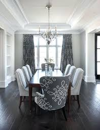 white velvet dining chairs gray room features a tray ceiling accented with satin x gloss d