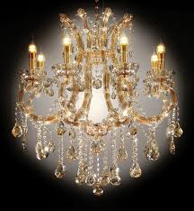 l9725h gold tone finish metal and acrylic hanging glass crystal chandelier hanging lamp