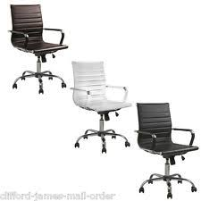 eames inspired office chair. Eames Inspired Leather Swivel Computer Office Desk Chair Executive Adjustable
