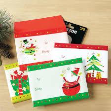 Gift Cards For Christmas Festive Gift Card Envelopes