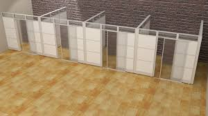 laminate office demountable walls room dividers cubicle panels modular office cubicles 9 lx9 wx8 h 4 units from 14 432 02 in cubicles cc skutchi