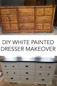 diy white painted dresser before and after