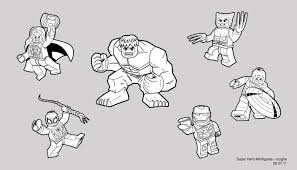 Lego Marvel Coloring Pages Coloring Pages For Kids