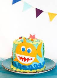 Diy Baby Shark Birthday Cake Create Play Travel