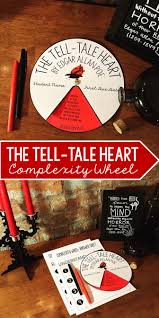 the tell tale heart by edgar allan poe complexity wheel heart the tell tale heart by edgar allan poe complexity wheel grades 6