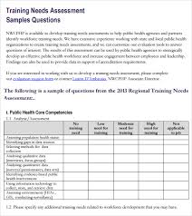 Training Needs Assessment 13 Download Free Documents In Pdf Word ...