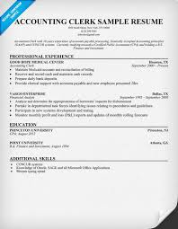 Accounting Clerk Resume Example