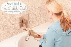 how to install new bathtub fixtures