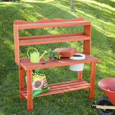 Potting Bench Wood Country Master Gardeners Cedar Wood Potting Bench Potting