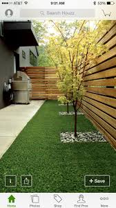 Turfless back yard
