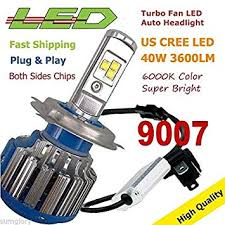 FidgetKute 9007 40W 4000LM Turbo LED 1PC ... - Amazon.com