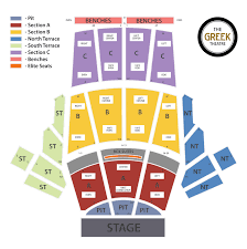 Southern Theater Seating Chart Seating Chart Greek Theatre