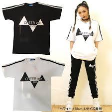 キッズダンスウェアーsale50offcheer Ex 三角デザインロゴ半袖