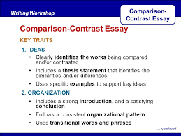 comparison contrast essay ppt comparison contrast essay
