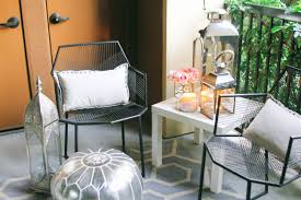 moroccan patio furniture. Apartment Patio Furniture Elegant Style At Home Small Space Moroccan Décor A