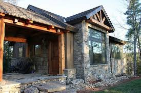 small rustic house plans. architectural designs house plan 11529kn - 681 sq. ft. vacation escape rustic-exterior small rustic plans l