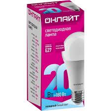 <b>Лампа ОНЛАЙТ</b> 61 158 OLL-A60-20-230-4K-E27 / <b>Светодиодные</b> ...