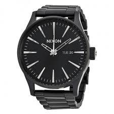 nixon sentry all black men s watch a356001 nixon watches nixon sentry all black men s watch a356001
