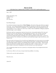 Retail Management Cover Letters Cool Ideas Retail Manager Cover