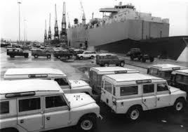 land rover series s s s land rover defender range rover classic part of acircpound6m middle east shipment of land rover range rover 80