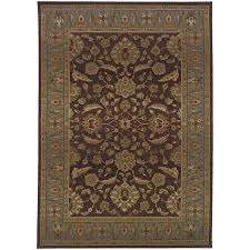 oriental weavers genesis 952q1 brown blue area rug