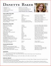 Sample Child Actor Resume Inspirational Format 21 Intended For