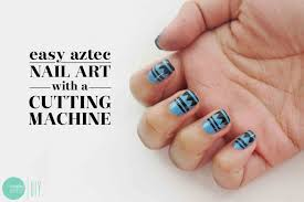 Nail Polish: Aztec Nail Art Stencils - Minted Strawberry