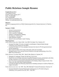 sample public relations resume resume for public relations valid public relations resume templates