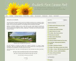 Web Design Mid Wales Pixelwave Web Design Portfolio Erwbarfe Caravan Park Wales