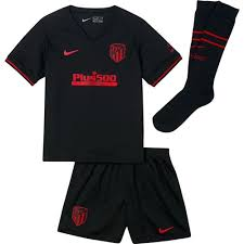 It's clean and sharp with the black, but then you get these bursts of red, which really. Atletico Madrid Kids Away Kit 2019 20 Authentic Nike