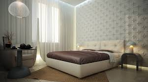 modern bedroom wall designs. Creative Ideas For Decorating Bedroom Wall Designs : Artistic Decoration With White Textured Wallpaper Modern